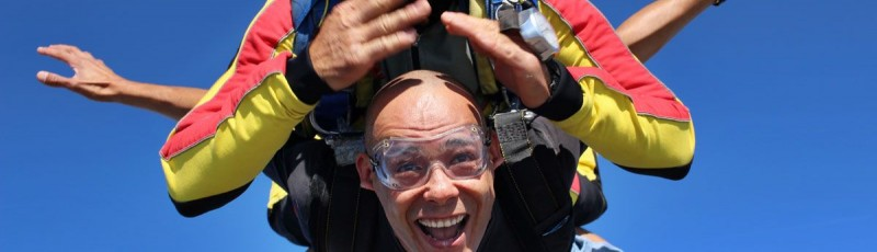 Un saut en parachute pour la fête des pères