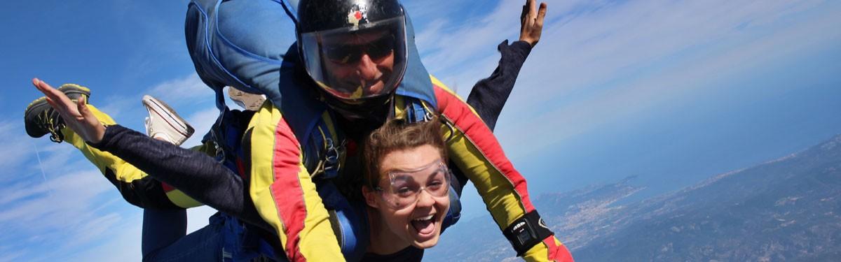 Baptême saut en parachute tandem Aix-en-Provence Produit - Atlas Parachutisme