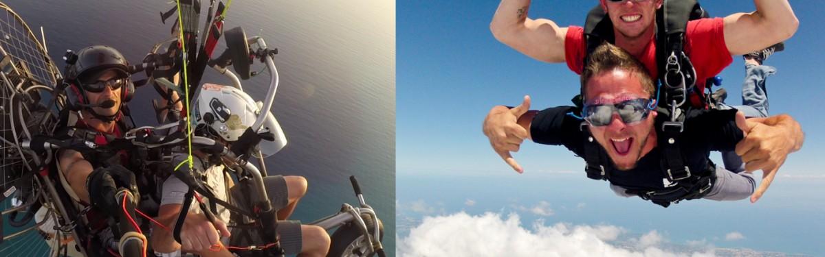 PACK : SAUT en TANDEM Le Luc + vol en PARAPENTE motorisé Produit - Atlas Parachutisme