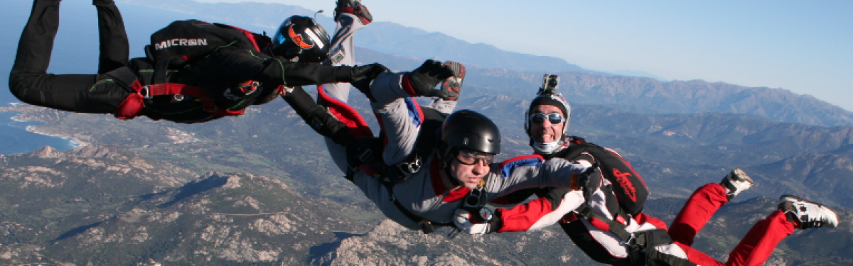 Le saut d'INITIATION PAC au Luc Produit - Atlas Parachutisme